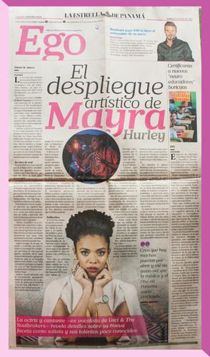 'El Despliegue Artístico de Mayra Hurley'- La Estrella de Panamá.
