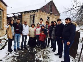 Visit to Hrazdan - 3 girls -Family in Poverty - April 3, 2016
