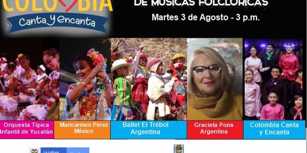 Encuentro Internacional de Folclor en el Festival Colombia Canta