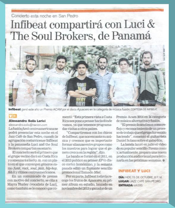 Article on Costa Rican newspaper 'La Nación'.