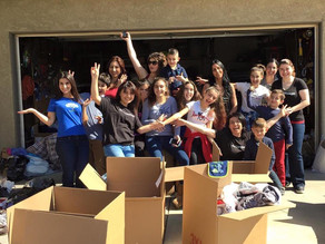 Packing Day for Poor Families In Armenia - February 21, 2016
