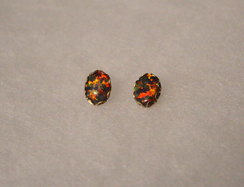 Mexican Opal Gold Studs