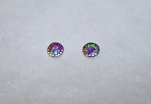 Lavender Opal Sterling Silver Studs