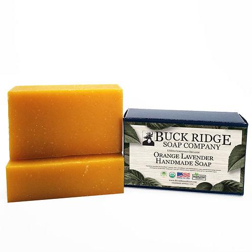 Orange Lavender Handmade Soap - USDA Certified Organic