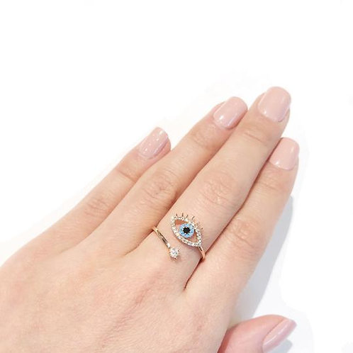 Eye Star Ring Adjustable