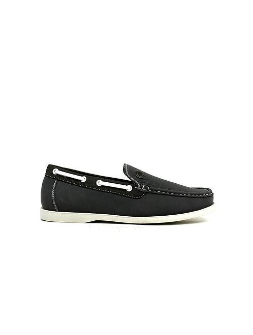 Emblem Boat Shoes Grey