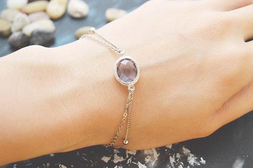 White Gold Double Layered Tanzanite Bracelet