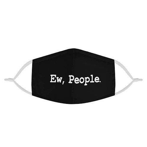 Ew People, 2 Layer 100% Cotton Fashion Funny Black Face Mask