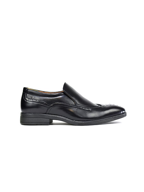 Slip on Brogue Shoes Black