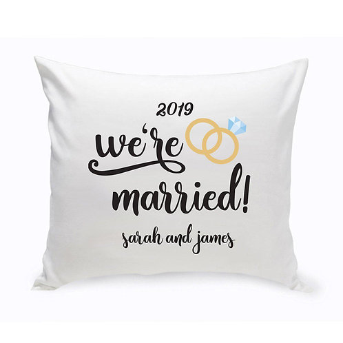 Personalized Throw Pillow - We're Married