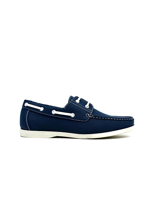 Lace Boat Shoes Navy