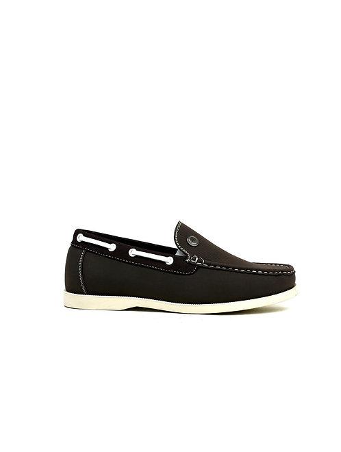 Emblem Boat Shoes Brown