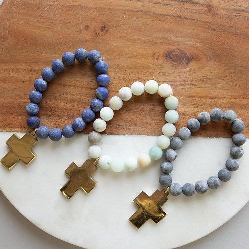Cross Gemstone Bracelets