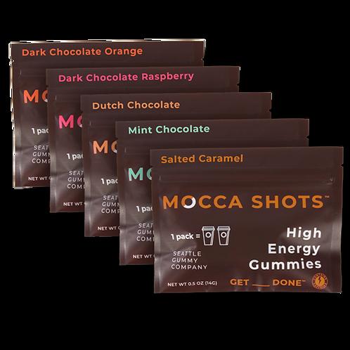 Mocca Shots Chocolate  Gummy Variety Box 12-Pack 12x2 Shots 200mg /Pack