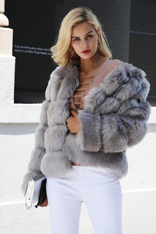 Vintage Fluffy Faux Fur Coat