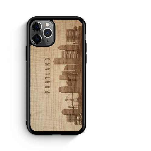 CityScape Wooden Phone Case   Portland Or