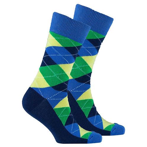 Men's Green Pineapple Argyle Socks