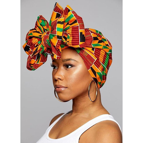 "KENTE Cloth Extra Long 72""×22"" Headwrap ANKARA Dashiki African Print"