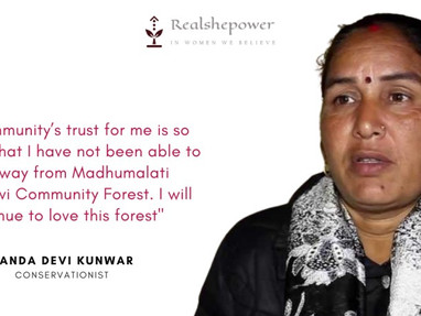Nanda Devi lost her hand while saving the forest
