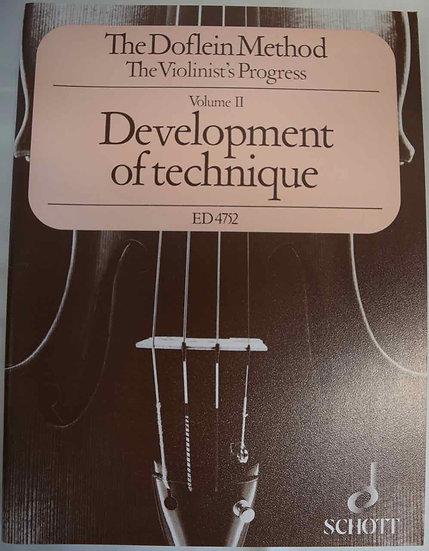 The Doflien Method for Violin Volume 2: Development of Technique by Erich Doflie