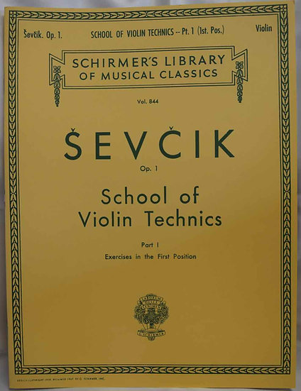 Sevcik School of Violin Technics
