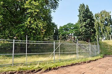 Root protection area fencing