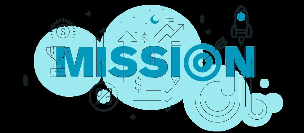 illustrazione grafica della scritta mission