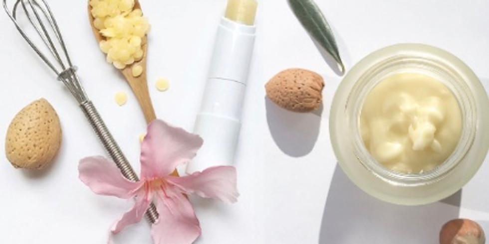 Atelier crème visage personnalisée et baume à lèvre naturel