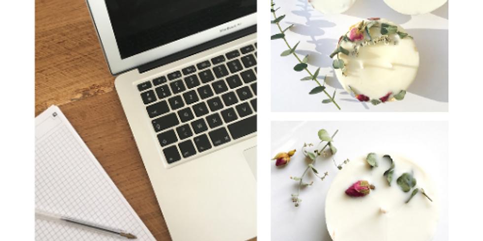 En ligne Atelier bougie naturelle et fleurie eco friendly