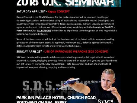Peter Weckauf 2018 UK Seminar