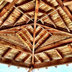 This cedar timber roof structure was cer