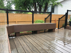 Bench and railing