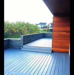 Fiberon Deck with cedar accents