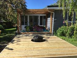 PT Deck with Cedar Accents & Pergola