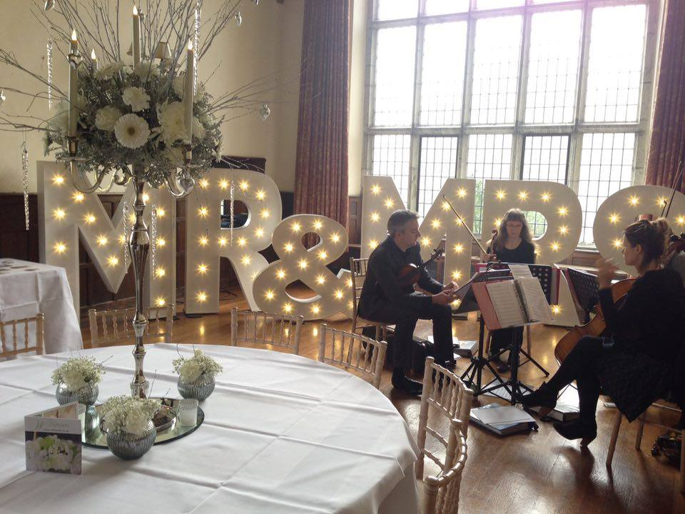Light Up Illuminated Letters Wedding Mr & Mrs