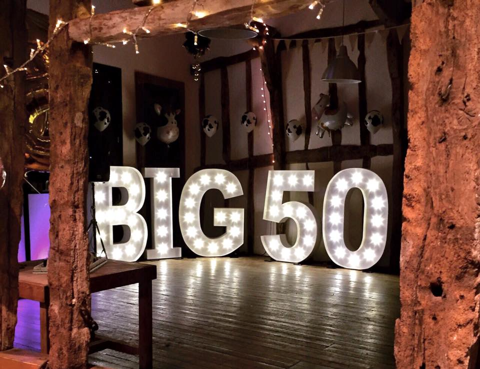 Light Up Illuminated Letters Birthday Big50