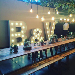 Light Up Illuminated Letters Wedding