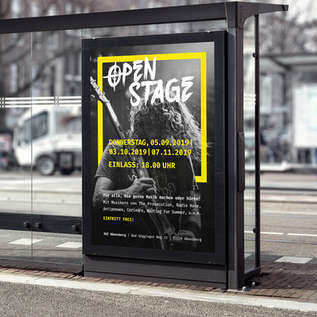Plakat Jugendzentrum Abensberg Open Stage
