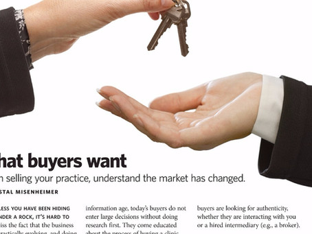 The Changing Marketplace for Practice Sales