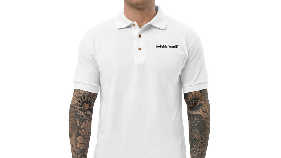 Ooliskia Wapi  Embroidered Polo Shirt