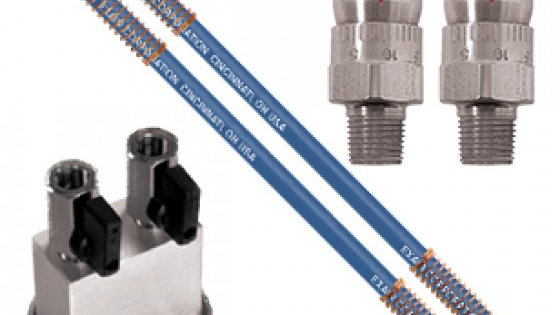 SS Adjustable Air Nozzle with 2 Stay Set Hoses  and a Two- Outlet Magnetic Base