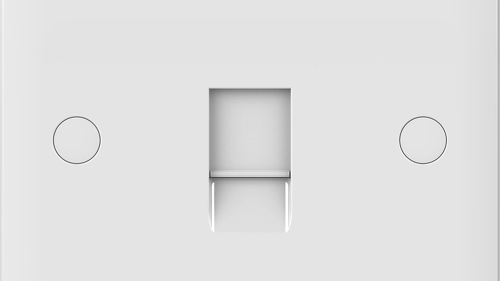 Lisse - Square Edge White Moulded - Data/Telephone Socket