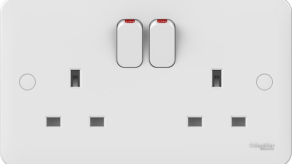 Lisse 2Gang DP Switched Socket (5pcs)
