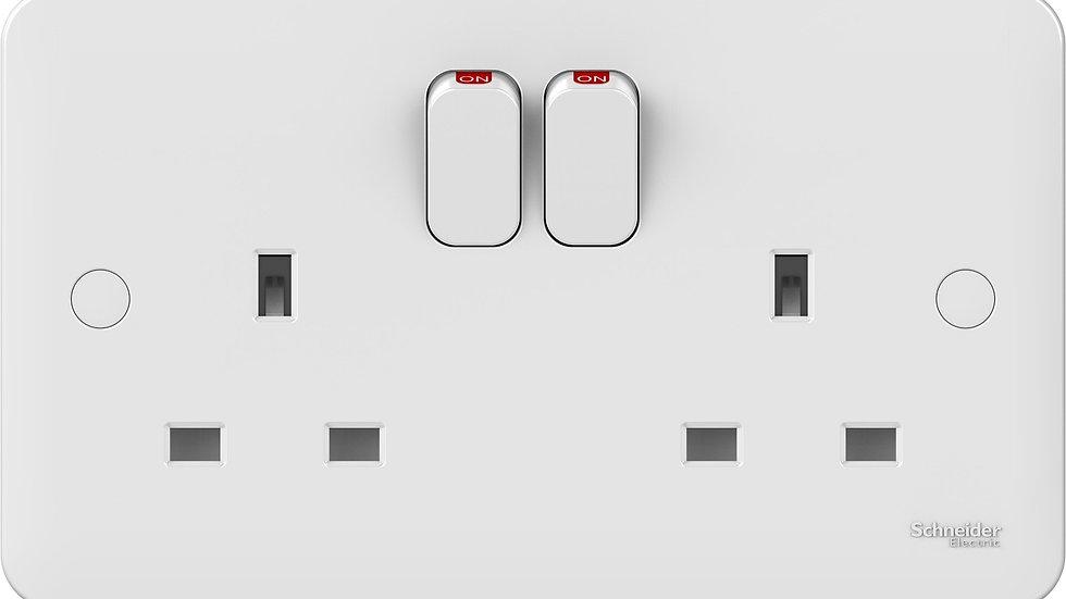 Lisse 2Gang Switched Socket (5pcs)