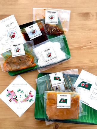 マレーシア料理店「マレーアジアン・クイジーン 」 冷凍食品 通販用パッケージイラスト