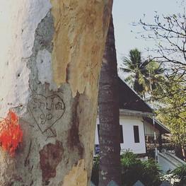 Someone's signature in Laos