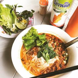 Rice noodle in Luang Prabang