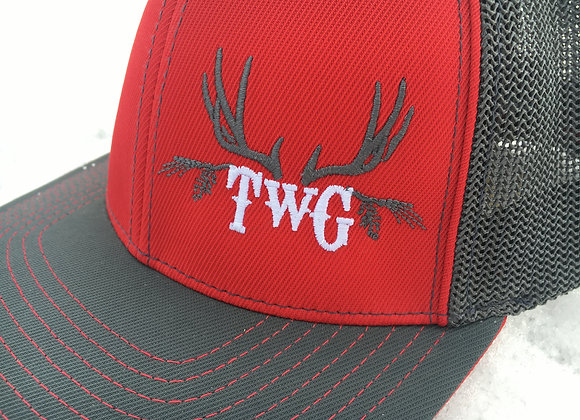 Red and Charcoal Pro trucker