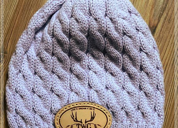 Violet cable knit