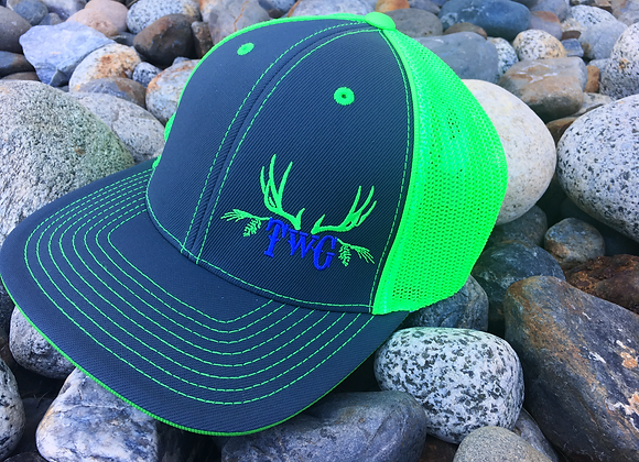Lime Charcoal Pro Trucker